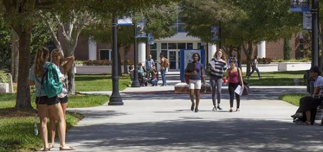Students walking - Main Campus