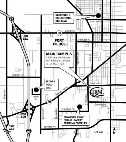 Indian River Florida Map.Indian River State College Main Campus Maps