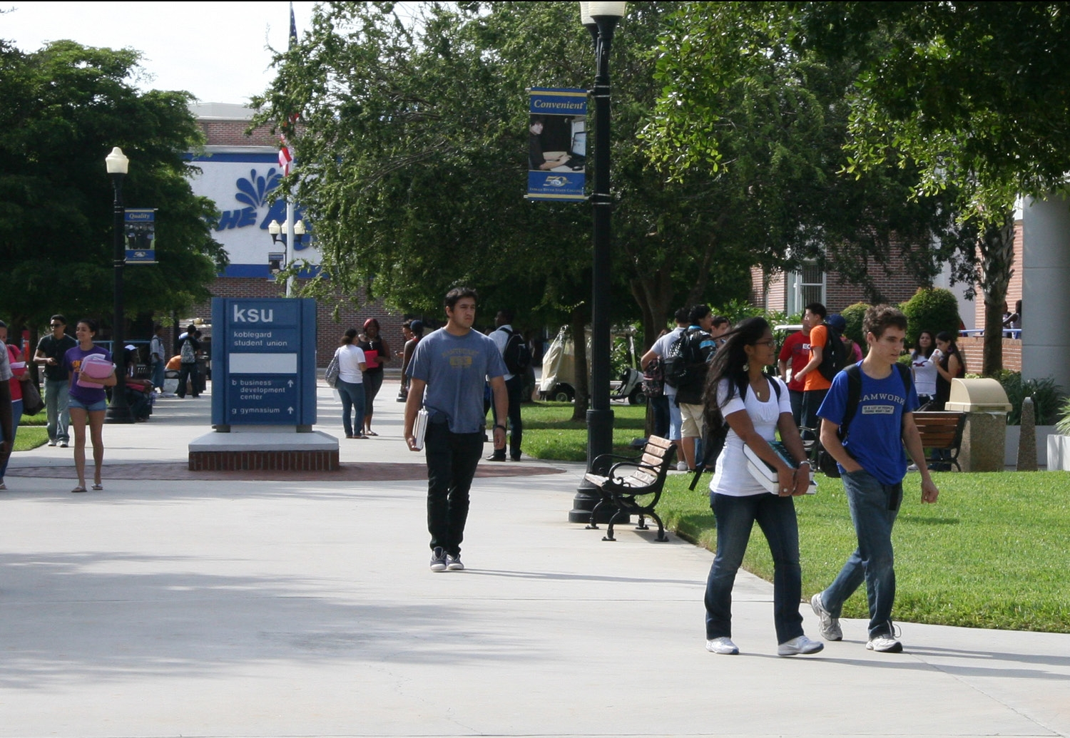 This is an image of students on campus.