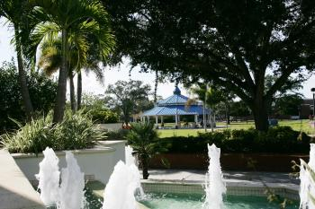 Photo of pavilion and fountains