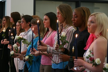 PTK candle lighting ceremony