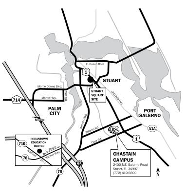Chastain Campus area map