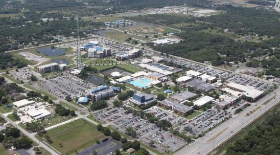 Aerial photo of Main Campus facing SW