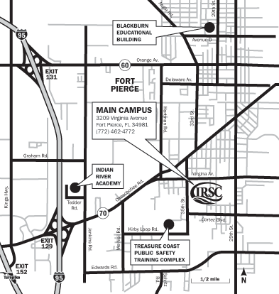 Indian River State College - Main Campus Maps