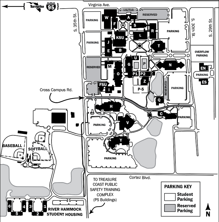 irsc chastain campus map Indian River State College Main Campus Maps irsc chastain campus map